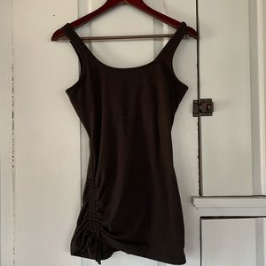 PRANA Ruched Long Fitted Tank with Shelf Bra
